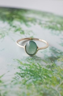 Green jadeite half bezel ring  2019