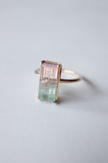 Bicolour Tourmaline Ring  Pink x Sky blue