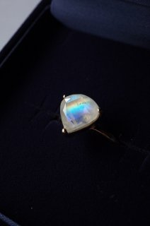 Rainbow Moonstone Ring  S