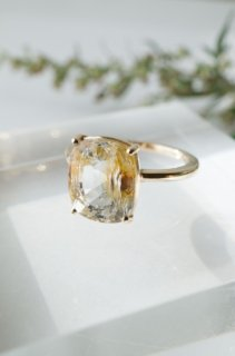 Limonite in Topaz ring -K10