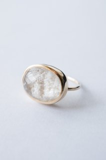 White garden quartz ring K14
