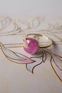 Bicolour pink sapphire  ring