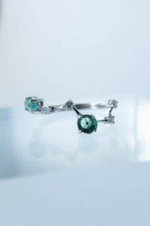 【 MADE TO ODER 】Trapiche Emerald Ring  ASTERISM
