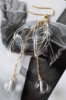 Synthetic Quartz Mystery Chain Earrings B