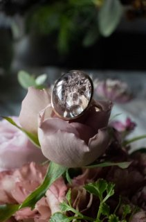 Quartz in Garden Quartz Ring