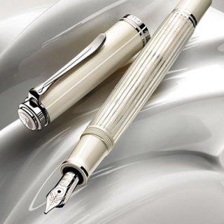 [送料無料]ペリカン 数量限定万年筆 スーべレーン605ホワイトストライプ