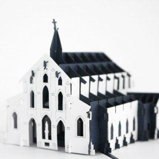 長崎限定 大浦天主堂 3Dポップアップカード(紺)