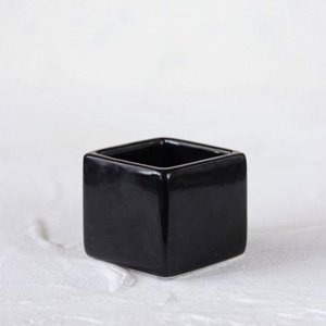 スクエアポット(SS) (ブラック)