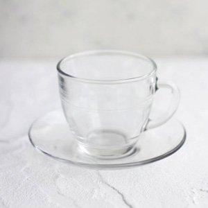 ミラージュカップ&ソーサー(ガラス)
