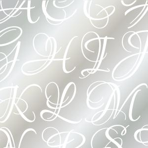LOUNA ALPHABET [LL] ガラス用ホワイト