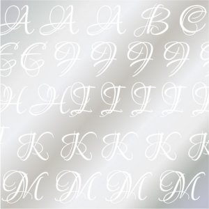 LOUNA ALPHABET [L] ガラス用ホワイト