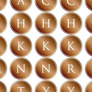 ALPHABET MARK CIRCLE (アルファベットマーク サークル・ブライトゴールド)