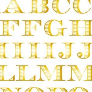 BORDER ALPHABET [L] (ボーダーアルファベット・ブライトゴールド)