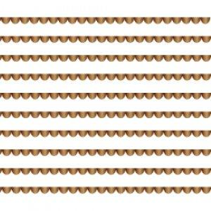 SCALLOP LINE (スカラップライン・ブライトゴールド)