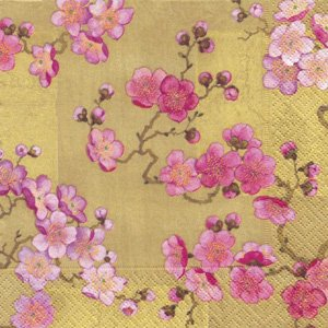PLUM BLOSSOMS GOLD(L)