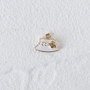 COCO HAT mini (ホワイト&ゴールド)