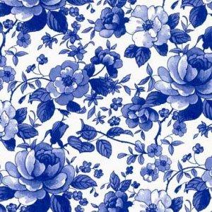 【特別アウトレット】FLOWER CHINTZ BLUE (フラワーチンツブルー)