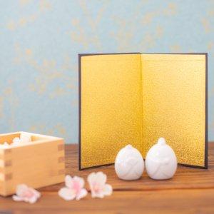 ミニ金屏風 / ひな人形 兜 端午の節句 桃の節句 日本人形 置物 飾り ひな祭り 子供の日