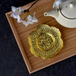 モロッカンフラワーコースター(ゴールド)