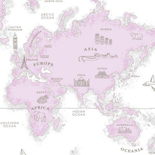 WORLD MAP(ワールドマップ・ピンク)