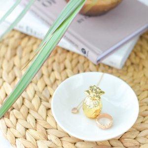ジュエリートレイ(パイナップル) / アクセサリー ミニトレー ホワイト 小皿