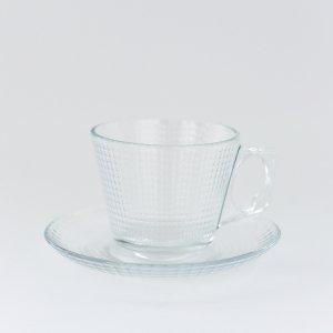 パシャバチェクロスカップ&ソーサー(ガラス)