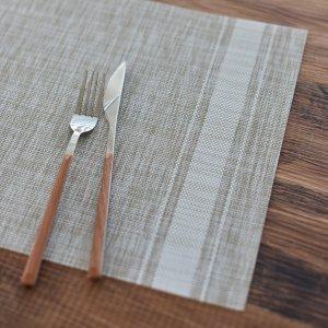 フレンチリネン風ランチョンマット(ベージュ×ホワイト)テーブルウェア おしゃれ