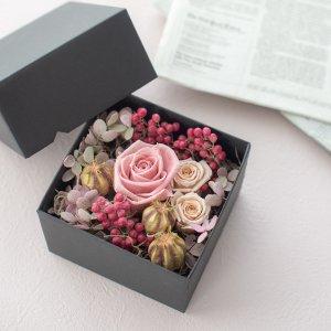 プリザーブドフラワーボックス(S)(ピンク)/ギフト BD 女性 誕生日