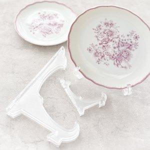 ディスプレイ台 / 皿立て スタンド 食器スタンド 透明皿立て