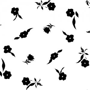 MONOTONE FLOWER(モノトーンフラワー)/転写紙 花