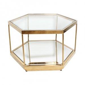 ガラスサイドテーブル(ヘキサゴン)/インテリア おしゃれ