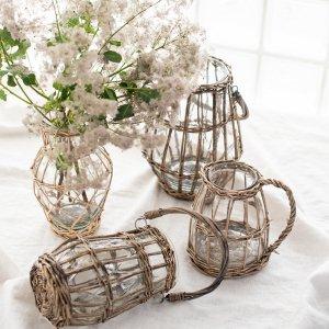 ウィローガラスベース/ フラワーアレンジメント 花瓶 おしゃれ