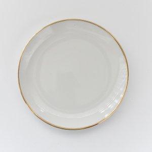 ゴールドラインメタプレート/白磁 真っ白い食器 お皿
