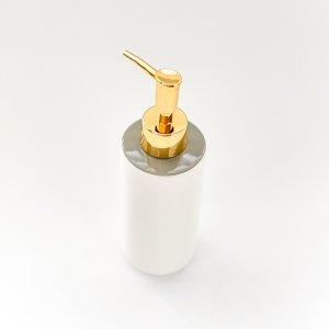 ソープディスペンサー(シャインゴールド)(円柱)/洗面用品