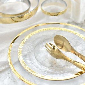 ゴールドガラスプレート/食器 お皿 おしゃれ ディナー