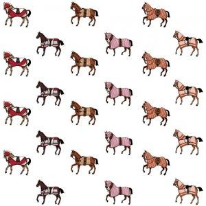 HORSE MINI(ホースミニ)/転写紙 馬柄 馬具 ファッショナブル