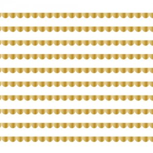 SCALLOP LINE�(スカラップライン・メタリックゴールド2)/転写紙 かわいい 波形