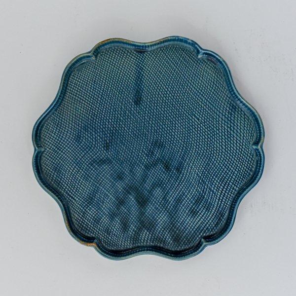 輪花プレート(ブルー)