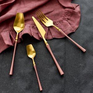 ボーテカトラリー4点セット(ピンク)/フォーク スプーン ナイフ