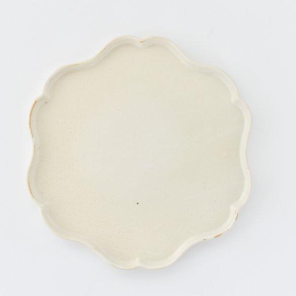 輪花プレート(ホワイト)