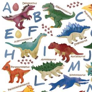 KIDS BOY DINOSAUR(キッズボーイダイナソー)/転写紙 恐竜 アルファベット 可愛い 男の子