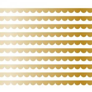 SCALLOP LINE�(スカラップライン・メタリックゴールド3)/転写紙 かわいい 波形