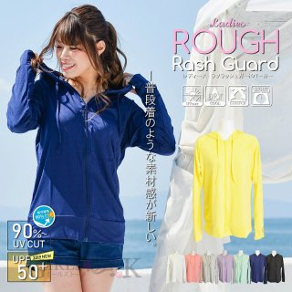 ラフラッシュガード パーカー レディース 長袖 おしゃれ 水着 体型カバー 大きいサイズ UVカット フード スポーツ アウトドア プール 海 送料無料
