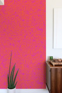 MOVEMENT Pattern Wall tiles(ウォールタイル)orange/pink