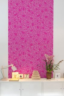 DANCERS Pattern Wall tiles(ウォールタイル)pink/silver