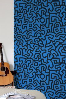 KEITH HARING Pattern Wall tiles(ウォールタイル)black/blue