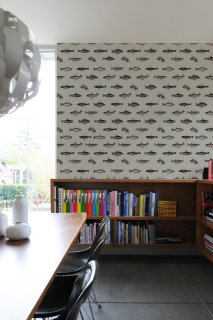 FISHES IN GEOMETRICS Pattern Wall tiles(ウォールタイル)