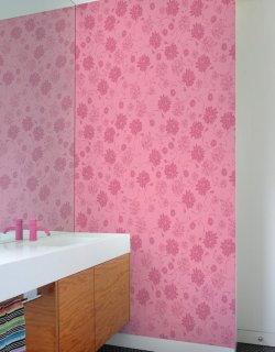 PSYCHEDELIC GARDEN Pattern Wall tiles(ガーデンウォールタイル)Pink