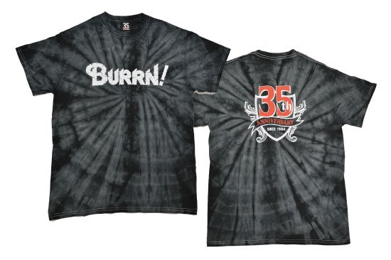 BURRN! 35th anniversary<br> Tシャツ SPIDER BLACK<img class='new_mark_img2' src='https://img.shop-pro.jp/img/new/icons1.gif' style='border:none;display:inline;margin:0px;padding:0px;width:auto;' />