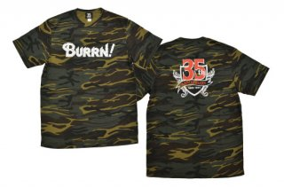 BURRN! 35th anniversary<br> Tシャツ CAMO GREEN<img class='new_mark_img2' src='https://img.shop-pro.jp/img/new/icons1.gif' style='border:none;display:inline;margin:0px;padding:0px;width:auto;' />